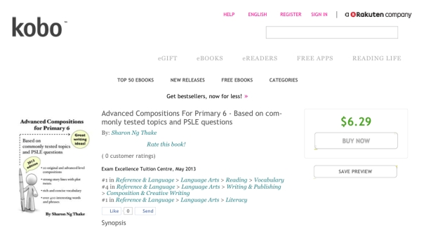Advanced Compositions For Primary 6 By_ Sharon Ng Thake - eBook - Kobo