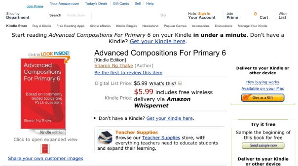 Advanced Compositions For Primary 6_ Sharon Ng Thake_ Amazon.com_ Kindle Store